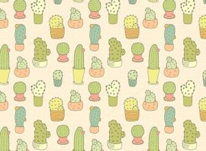 Cactus Pattern Wallpapers - Top Free Cactus Pattern Backgrounds
