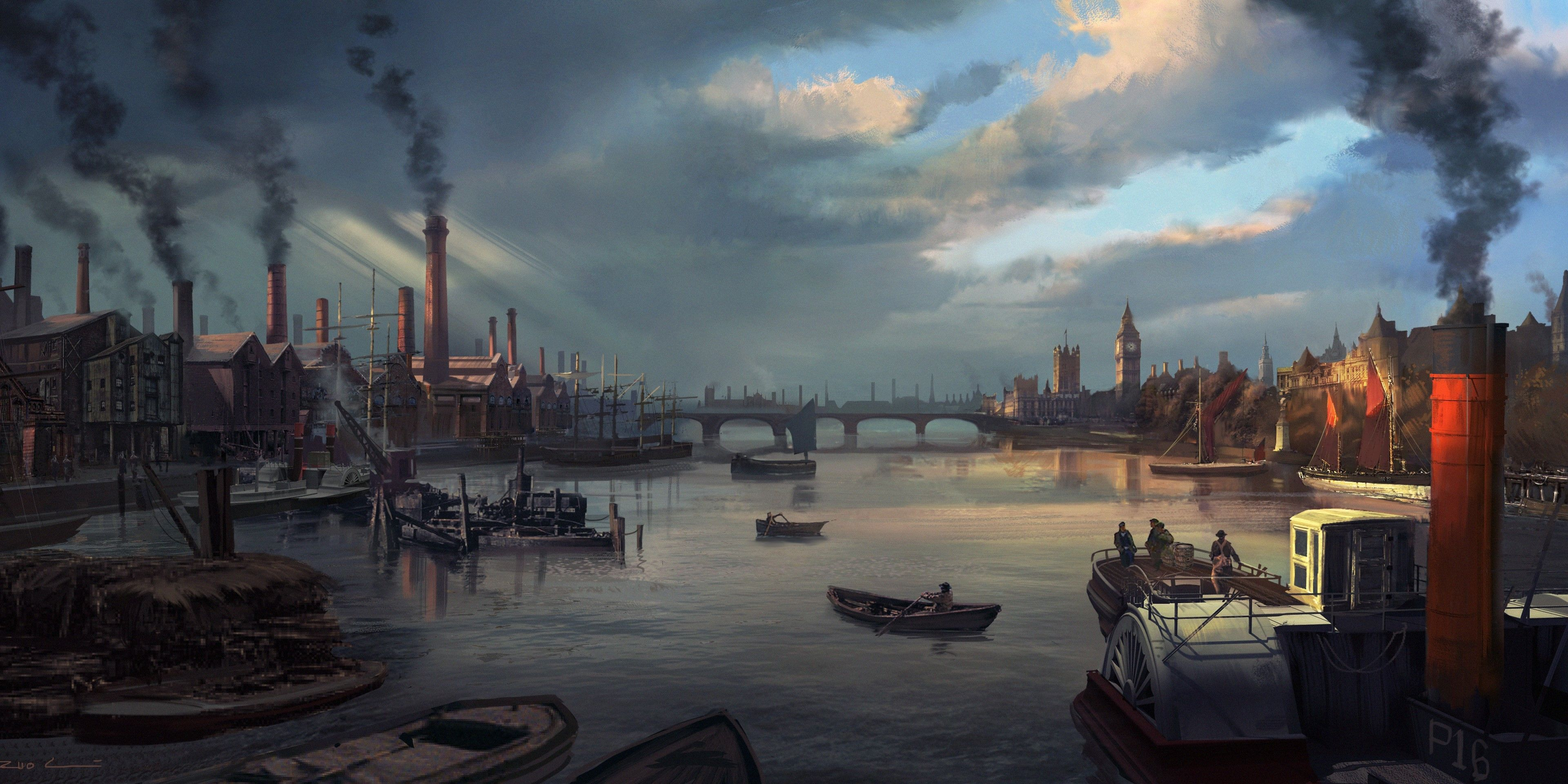 3840x1920 Assassin's Creed: Syndicate Full HD Wallpaper and Background Image ...