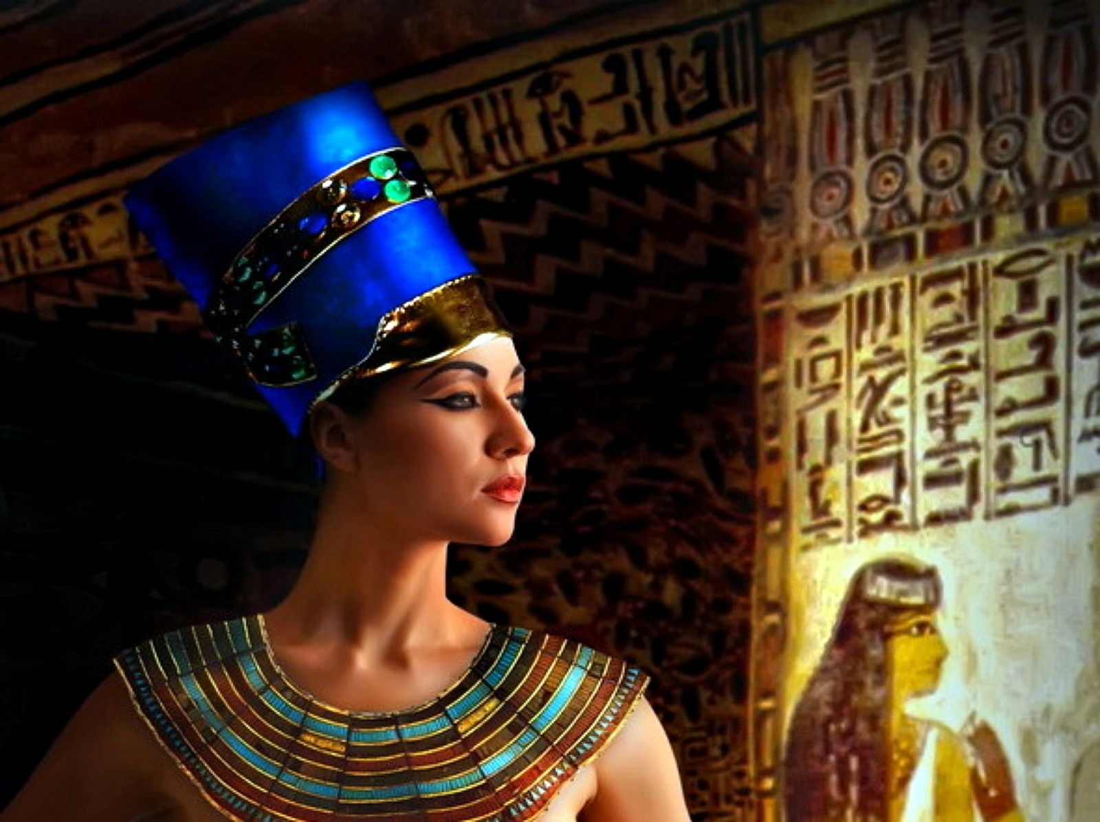 1600x1196 Ancient: Egyptian Queen Crown Blue Cool Wallpapers for HD 16:9 High ...