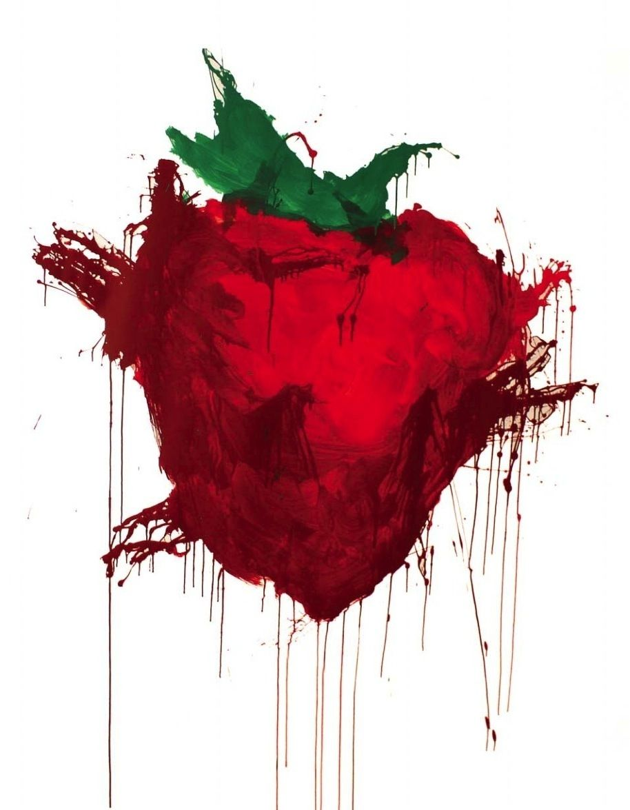 914x1175 across the universe strawberry painting - Google Search | Posters ...