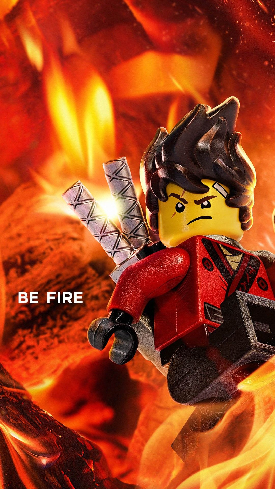 1080x1920 Kai Be Fire The Lego Ninjago Movie 2017 Wallpapers | HD Wallpapers ...