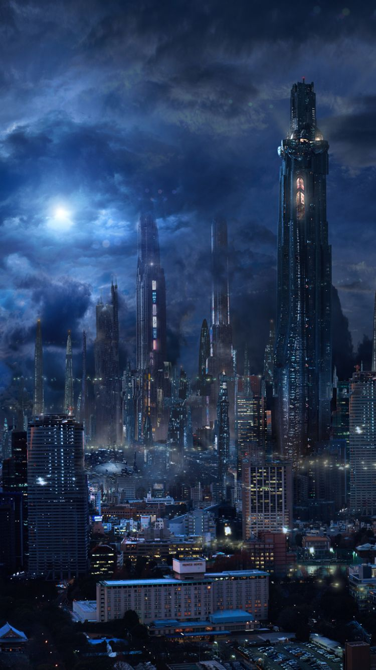 750x1334 Sci Fi/City (750x1334) Wallpaper ID: 640435 - Mobile Abyss