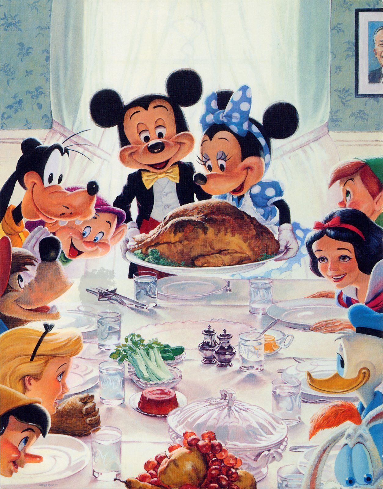 1254x1600 norman rockwell thanksgiving wallpaper   Labels: holiday , pilgrims ...