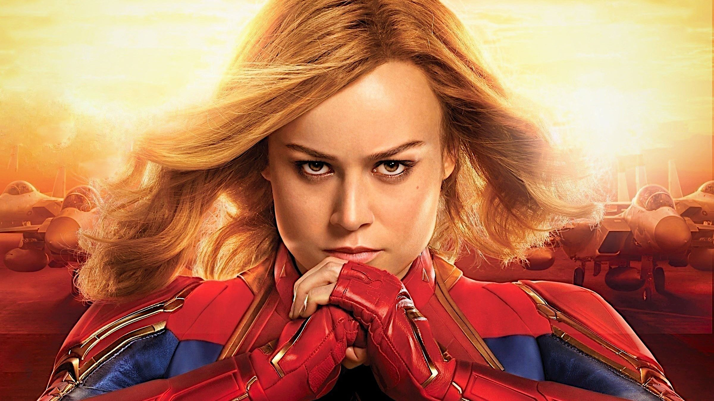 2400x1350 Captain Marvel Brie Larson, HD Movies, 4k Wallpapers, Images ...