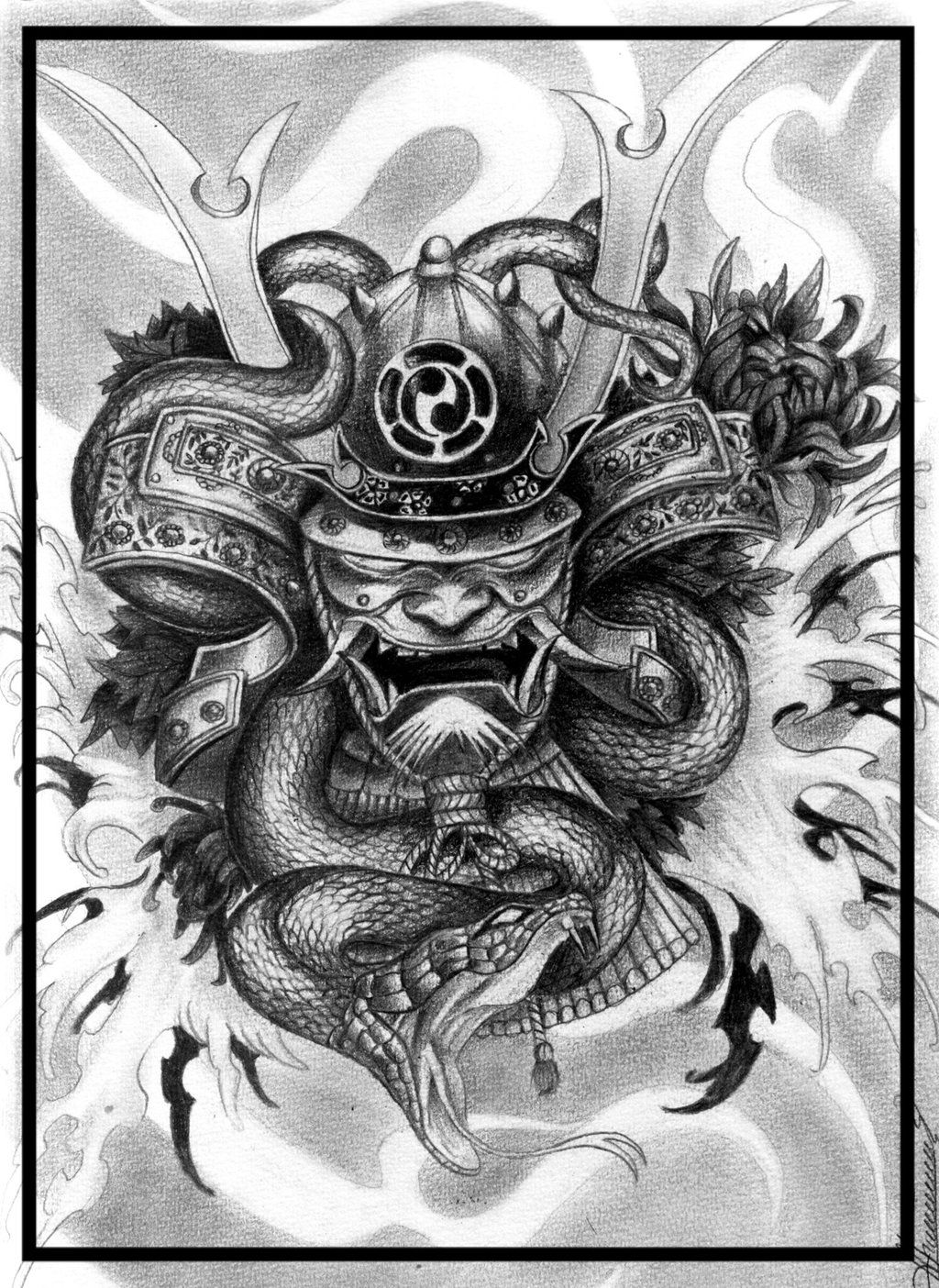 1024x1404 Samurai demon by ORLAN-21 on DeviantArt
