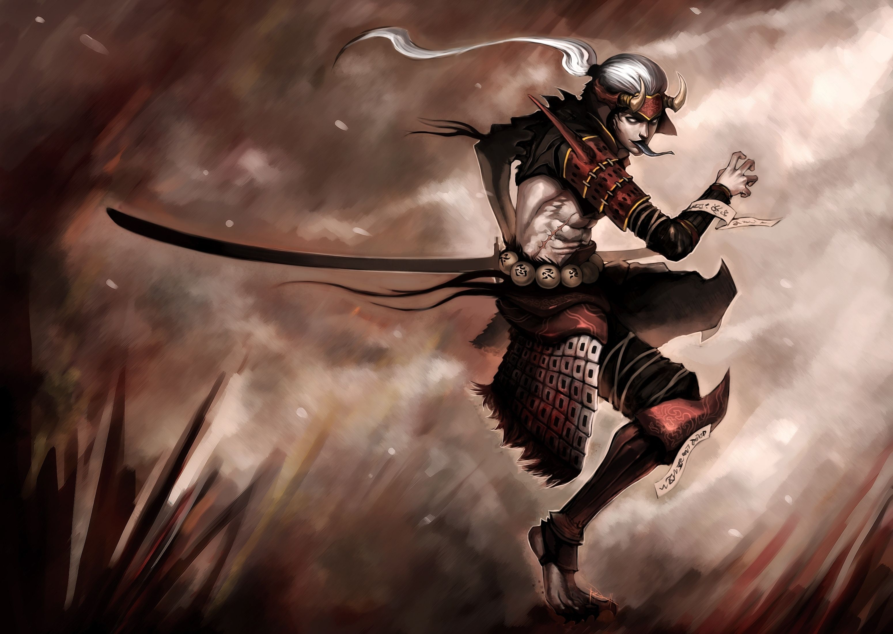3100x2201 Warriors Men Sabre Fantasy warrior demon dark wallpaper | 3100x2201 ...