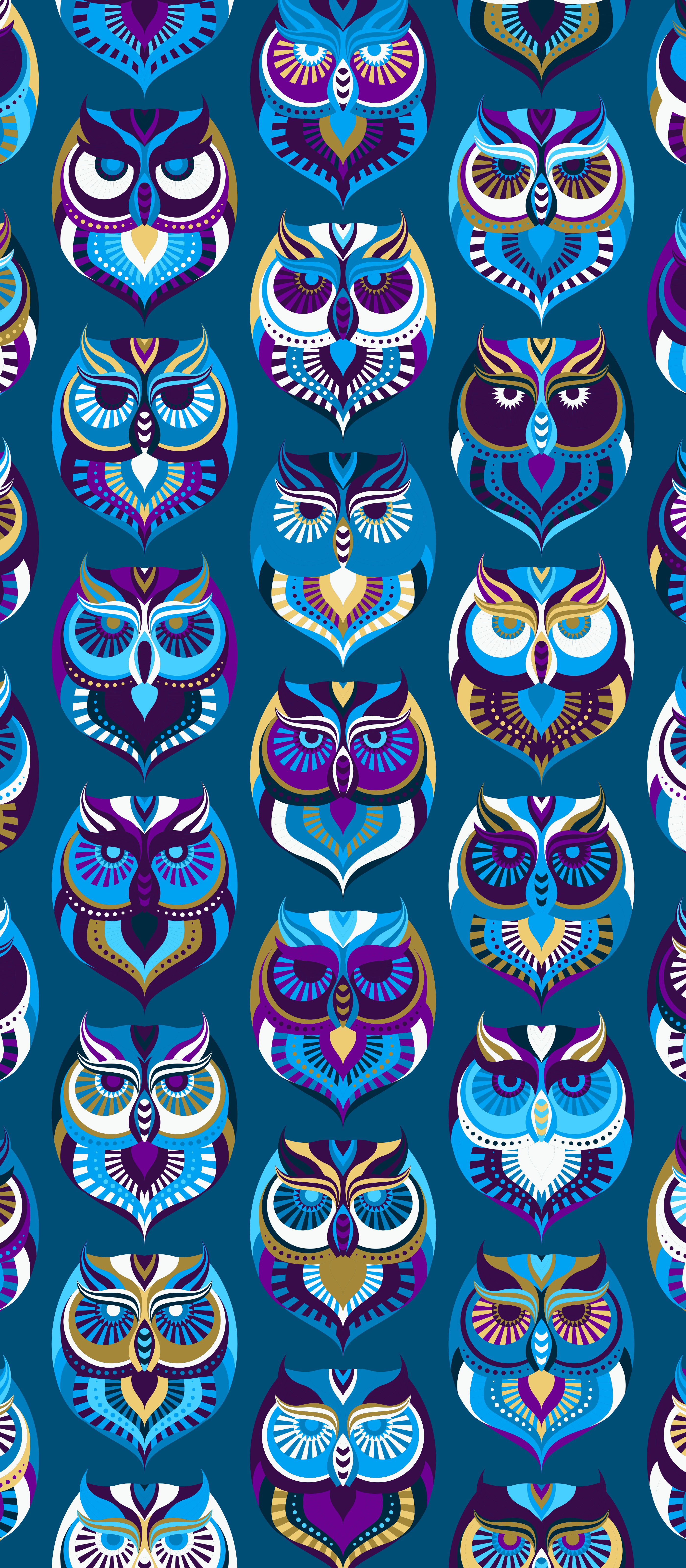 2800x6400 Pin by Natalie on Cute wallpapers | Owl wallpaper, Pattern wallpaper ...