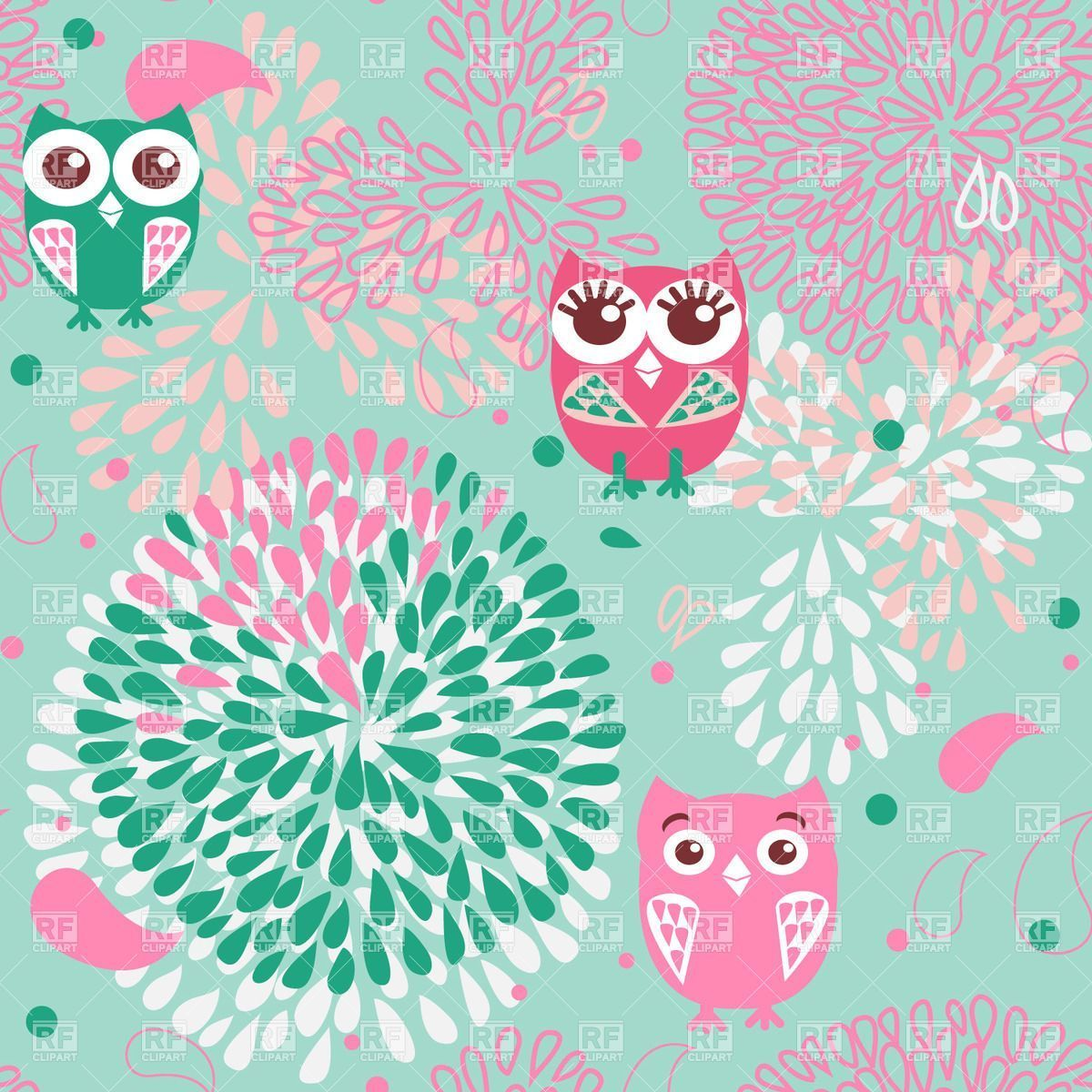 1200x1200 35+ Owl Floral Wallpapers - Download at WallpaperBro
