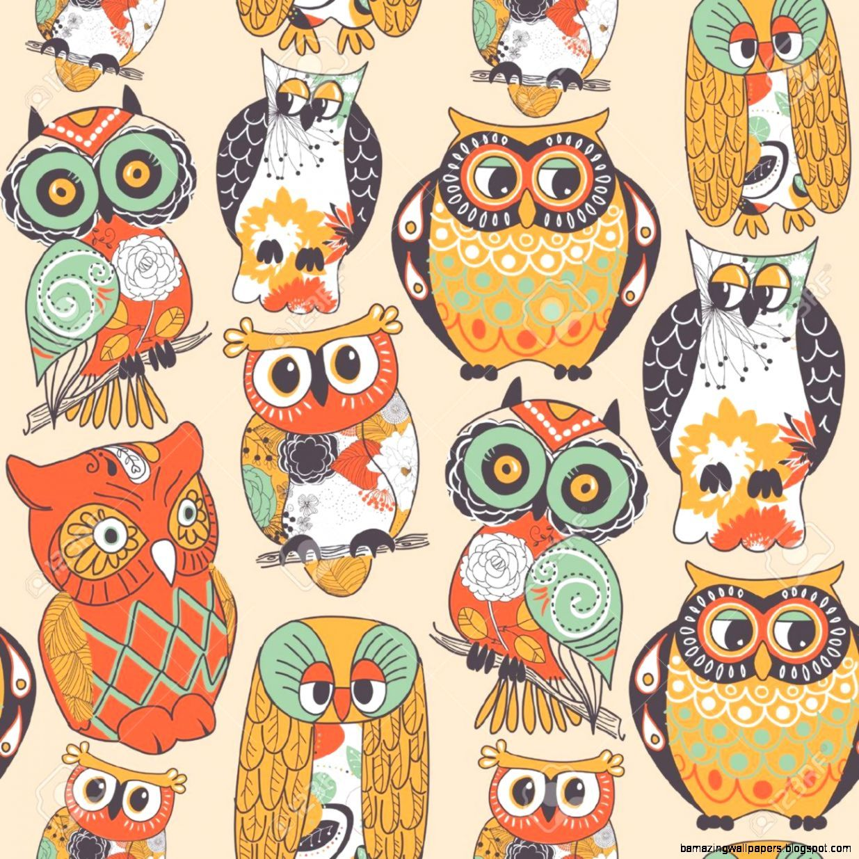 1235x1235 Vintage Owl Wallpaper | Amazing Wallpapers