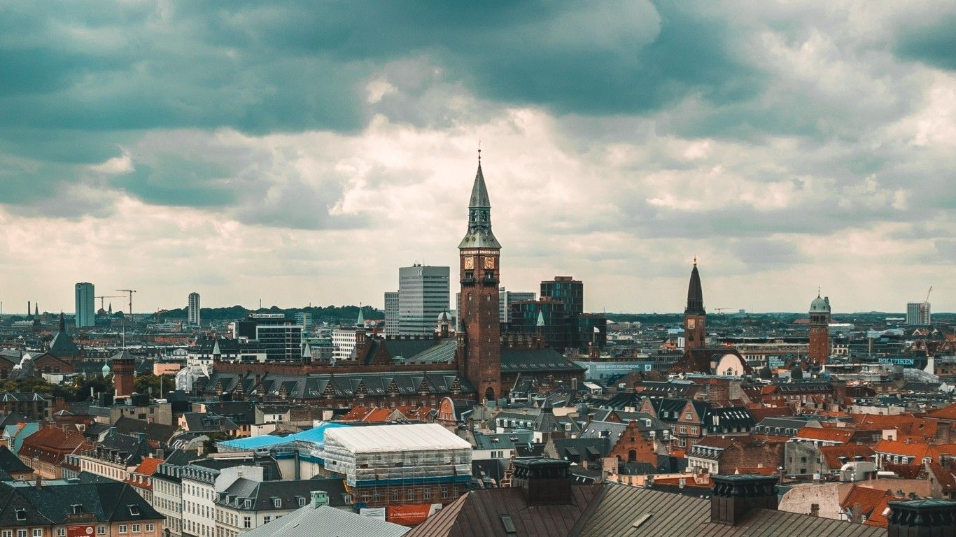 1366x768 Download 1366x768 Denmark Copenhagen, Buildings ...
