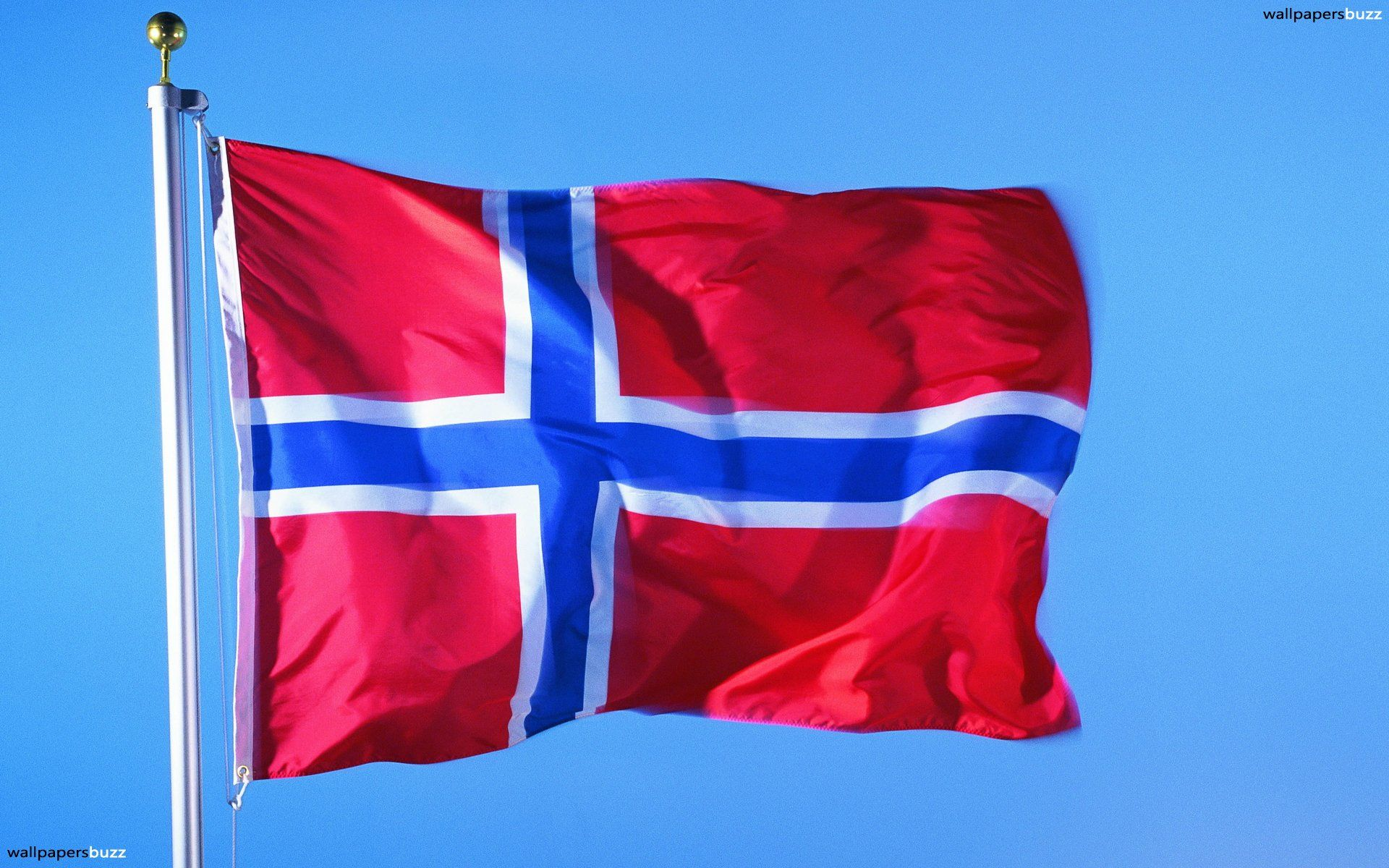 1920x1200 The flag of Norway HD Wallpaper