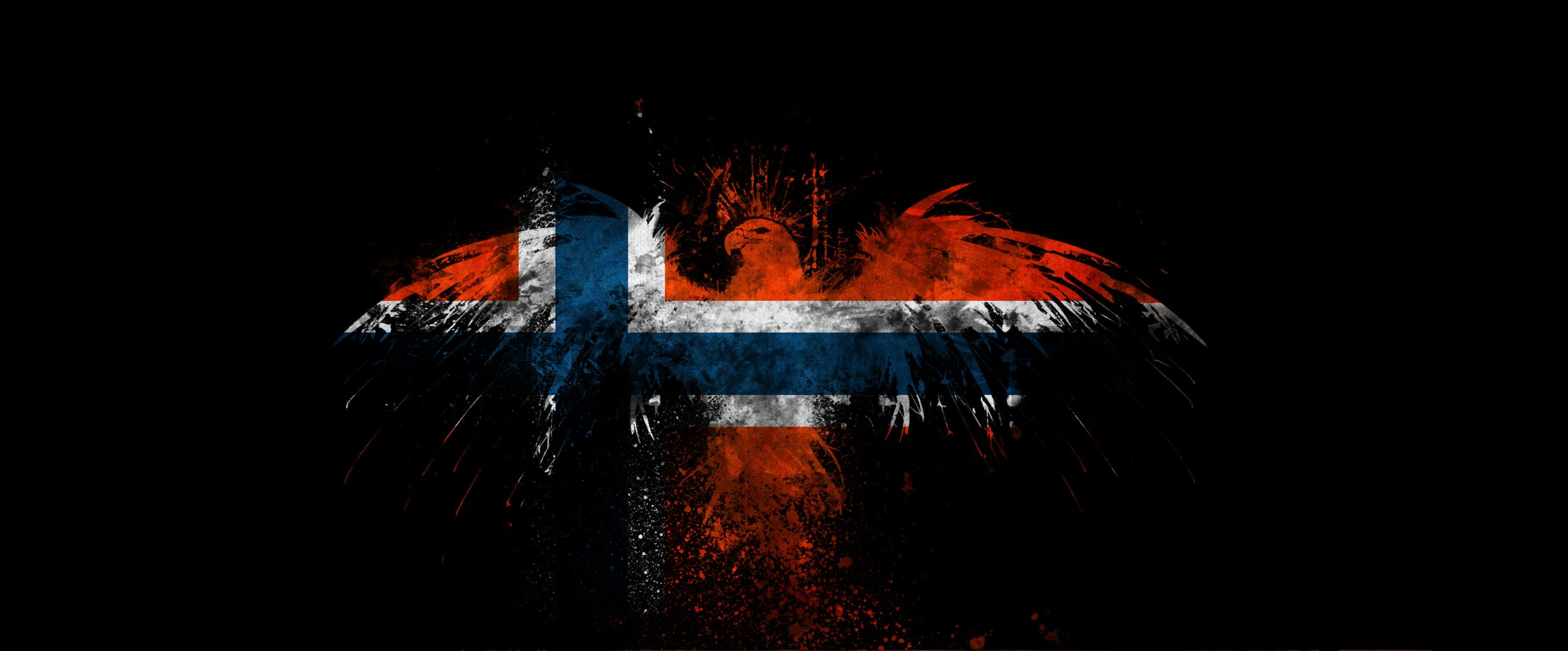 2500x1038 Norway Flag Wallpapers
