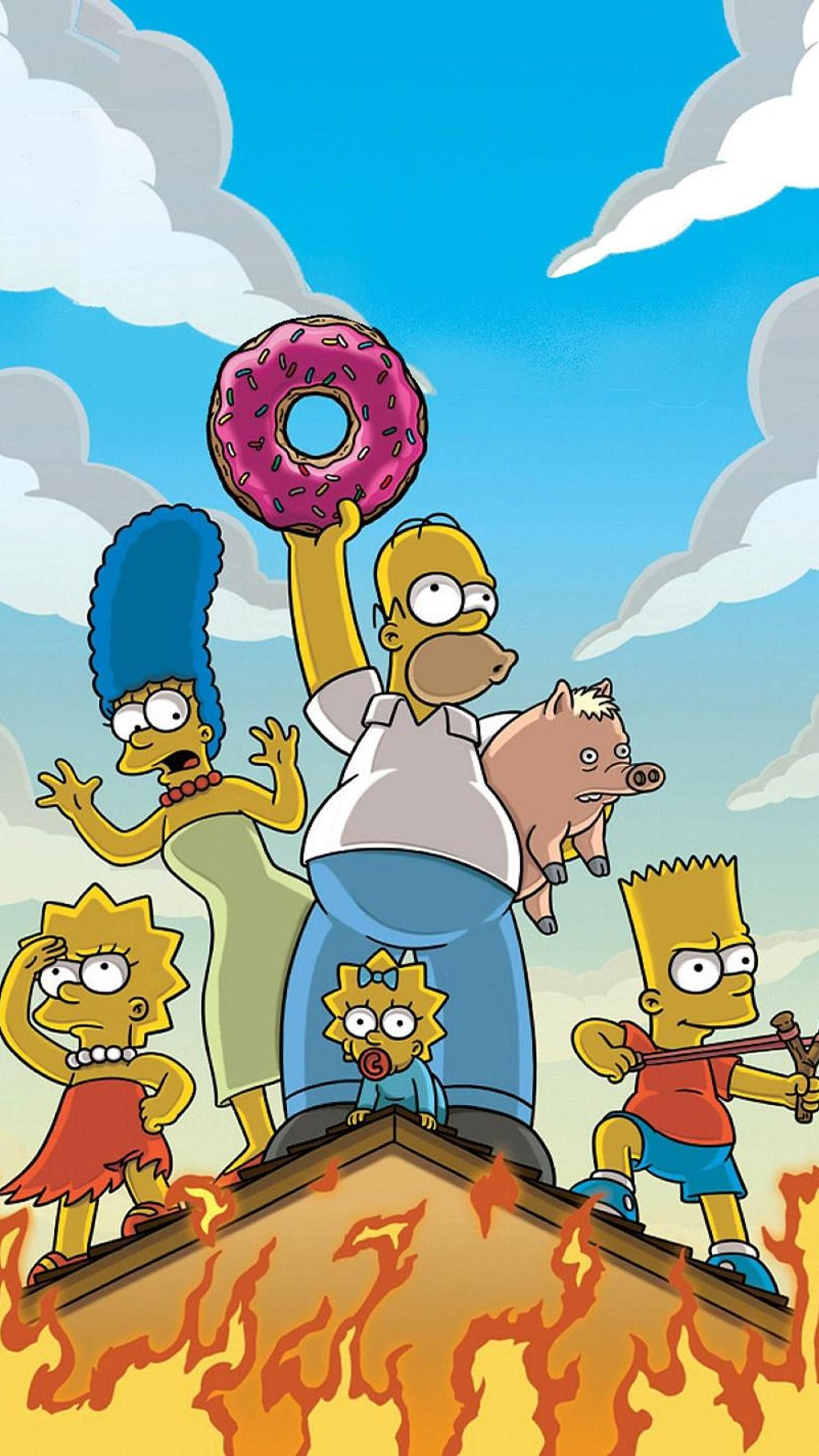 1536x2732 The Simpsons Movie (2007) Phone Wallpaper | phone wallpapers in 2019 ...