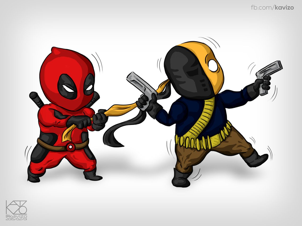 1280x960 Chibi Deadpool and Deathstroke by Kavizo by KAVIZO on DeviantArt