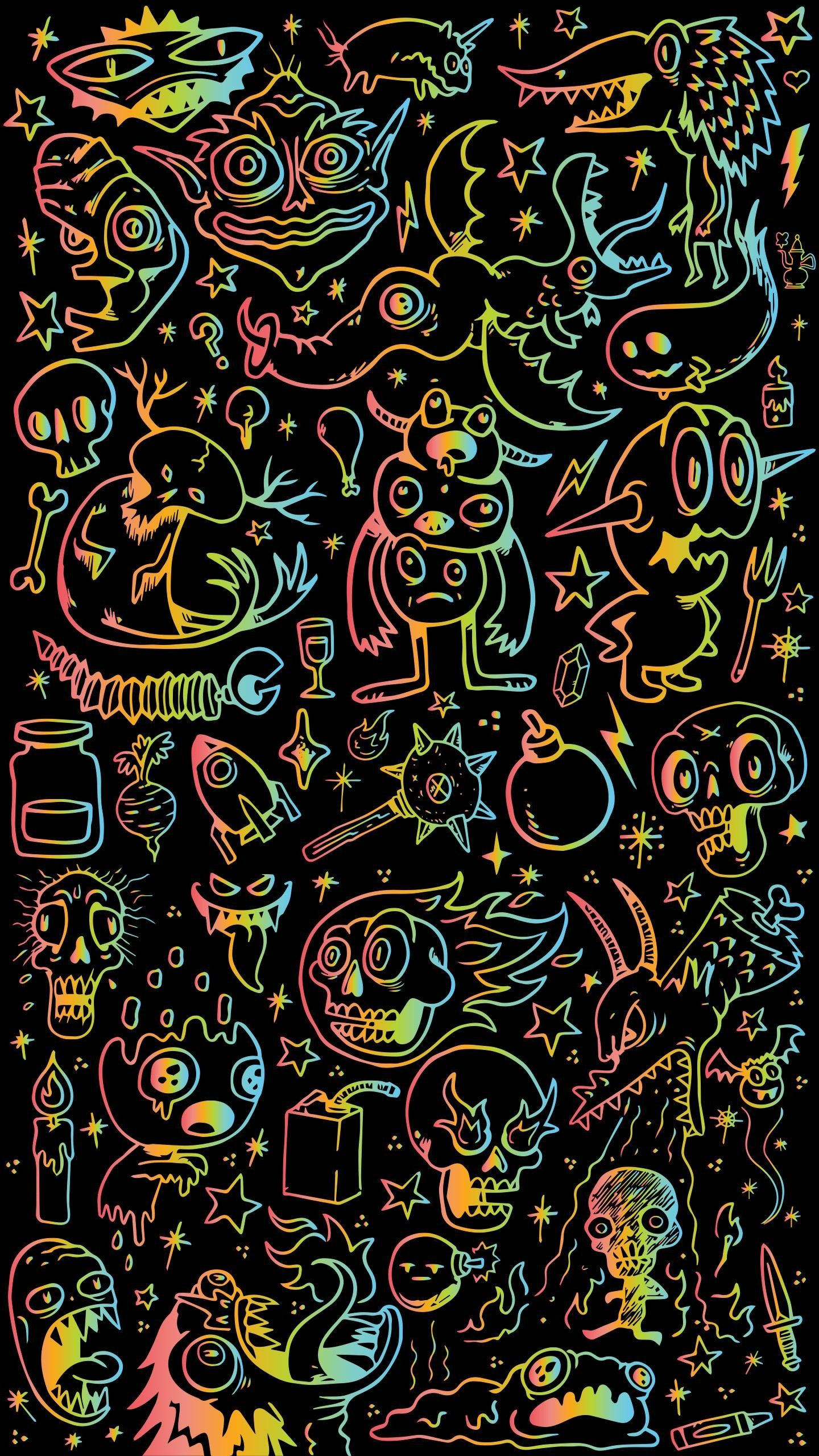 1440x2560 50+ Doodle Wallpapers on WallpaperPlay