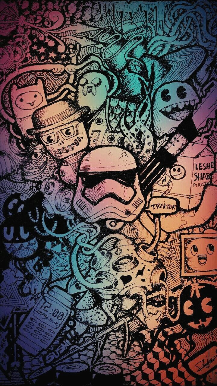720x1280 10 Doodle Art Wallpaper Hd iPhone - Download Wallpaper HD For PC ...