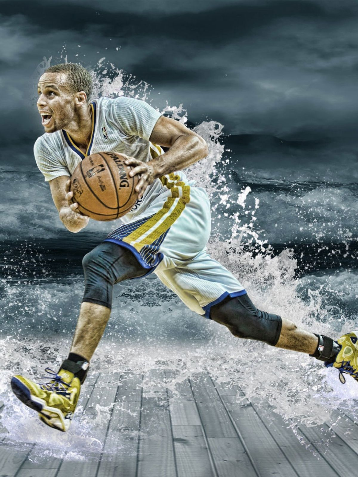 1200x1600 Stephen Curry Splash Mobile Wallpaper - Mobiles Wall