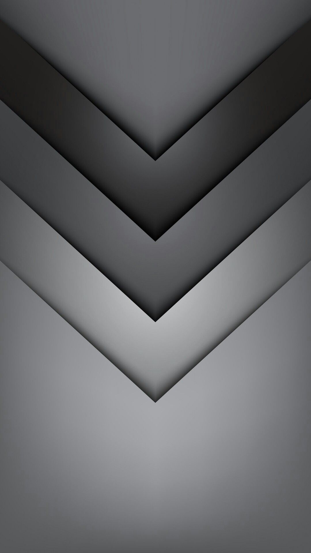 1080x1920 Gradient Grey Chevron Wallpaper | *Abstract and Geometric ...
