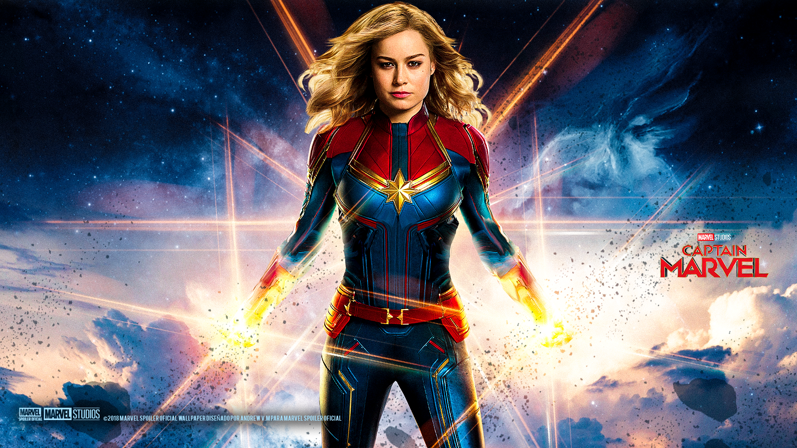 1600x900 Captain Marvel HD Wallpapers Download In 4K - Whats Images