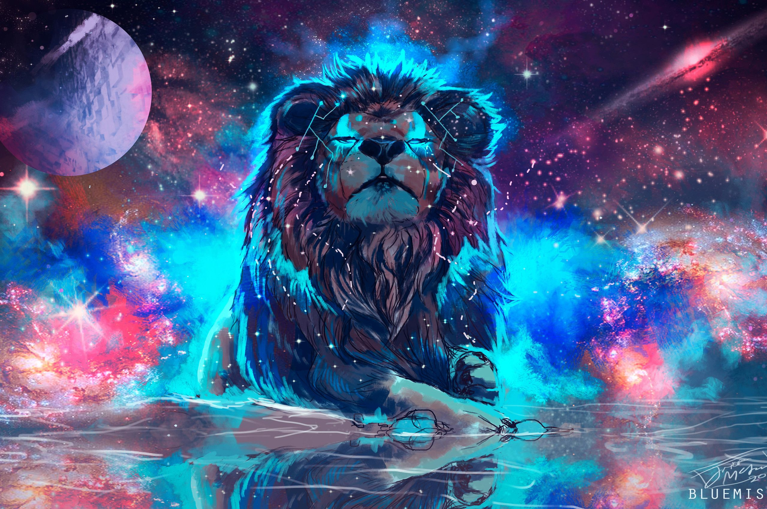 2560x1700 68+ Colorful Lion Wallpapers on WallpaperPlay
