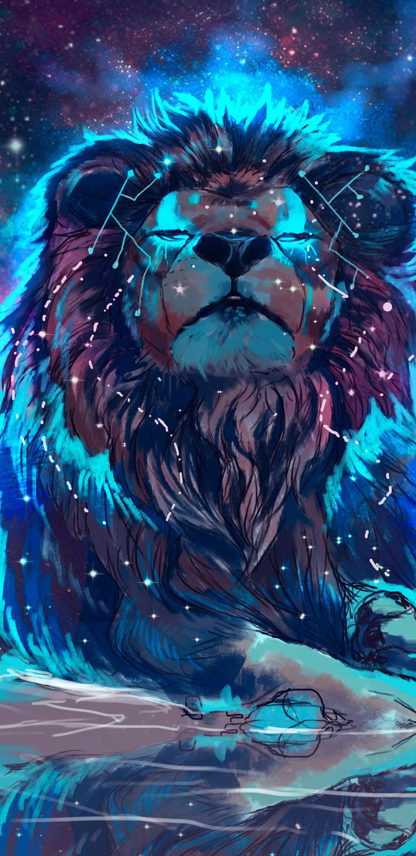 1440x2960 68+ Colorful Lion Wallpapers on WallpaperPlay