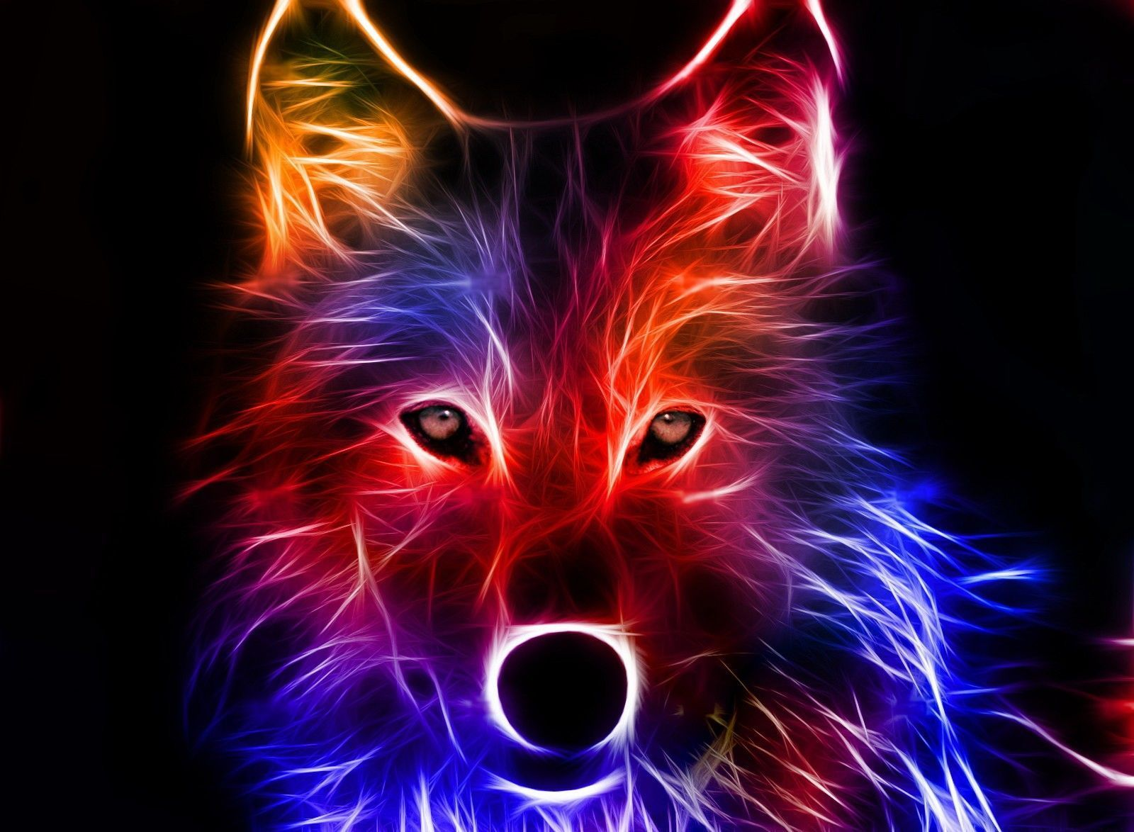 1600x1174 40+ Neon Red Wolf Wallpapers - Download at WallpaperBro