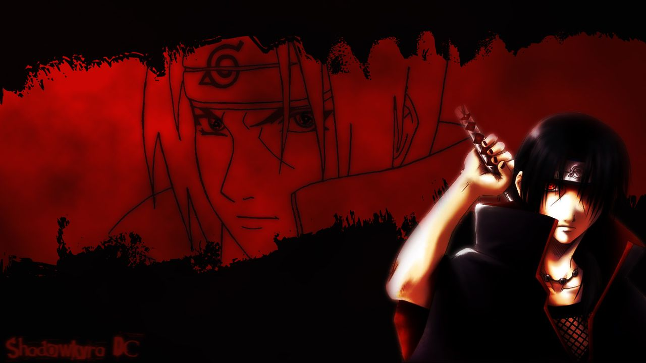1280x720 Naruto Wallpaper: Blood Red - Minitokyo