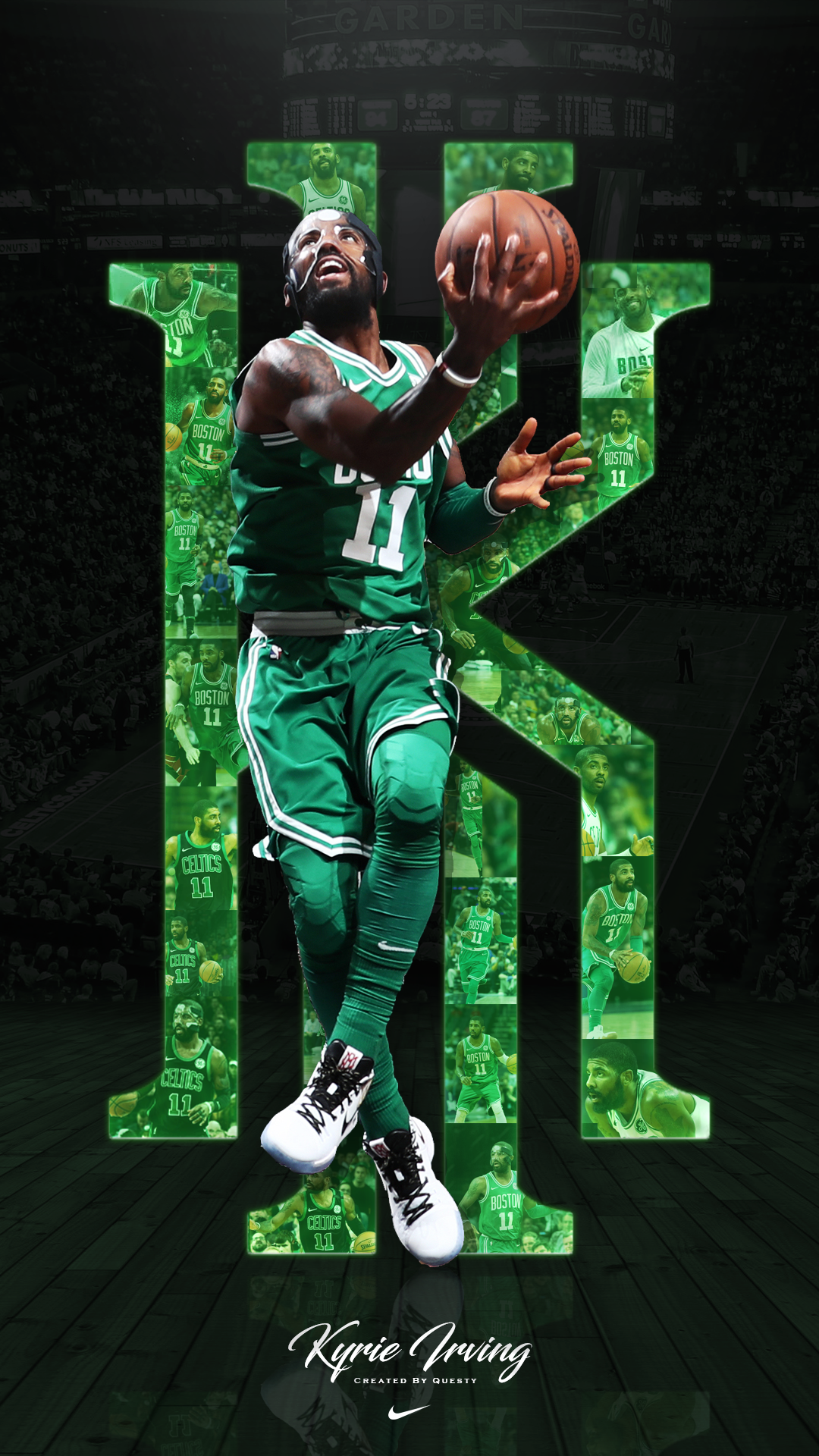 1080x1920 Kyrie Irving Celtics iPhone Wallpaper. Created by @QuestyTv ...