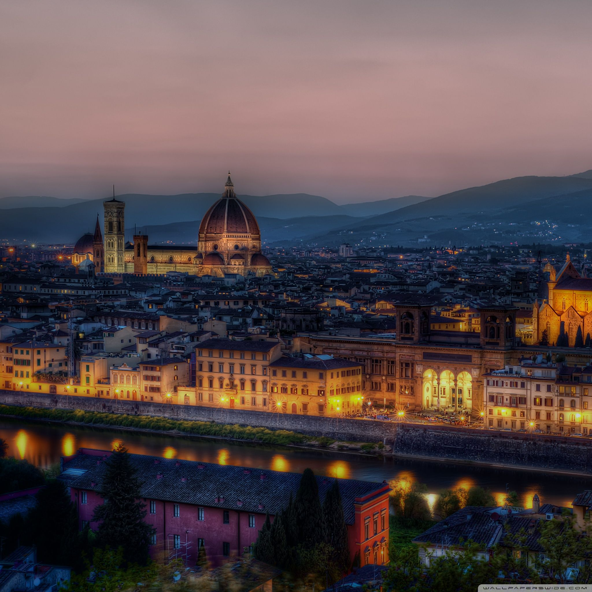 2048x2048 Dusk in Florence, Italy ❤ 4K HD Desktop Wallpaper for 4K ...