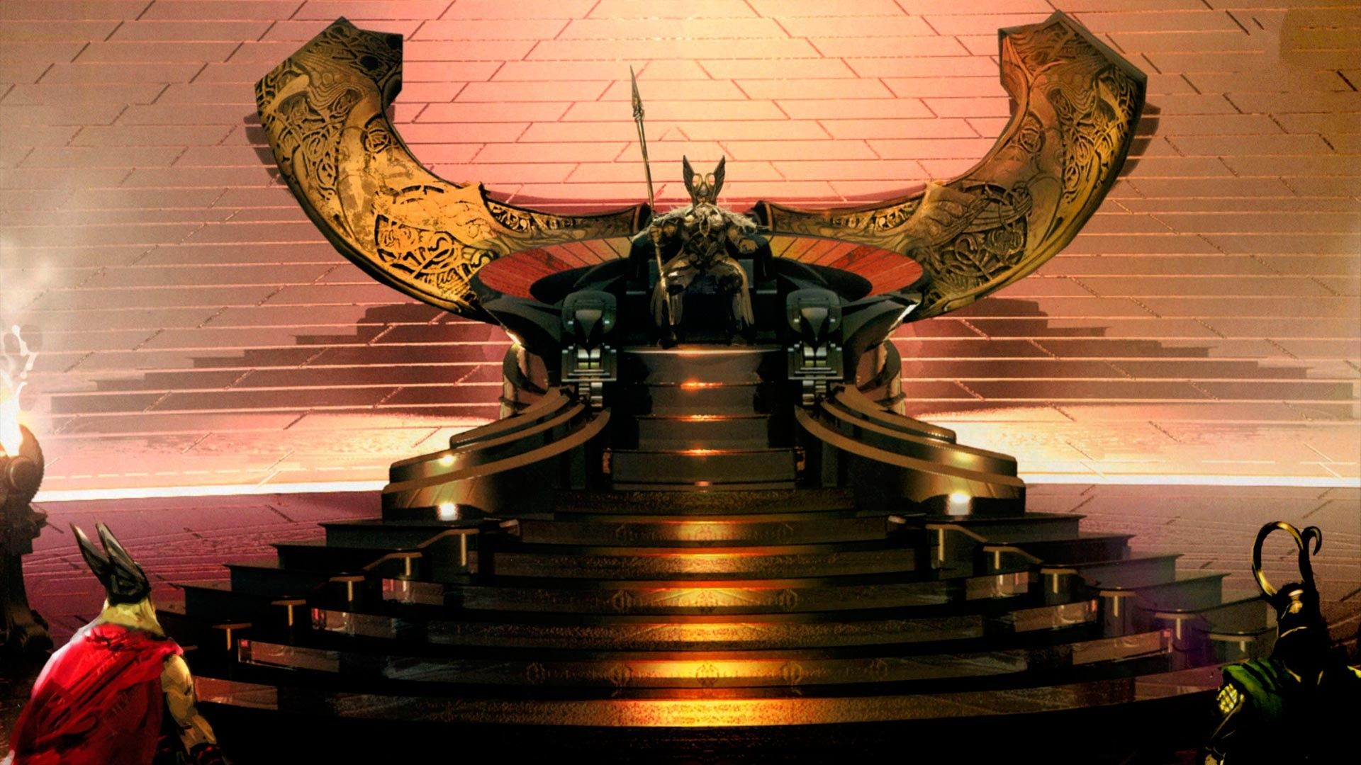 1920x1080 Odins Throne In Thor Asgard Background Desktop Wallpapers HD ...