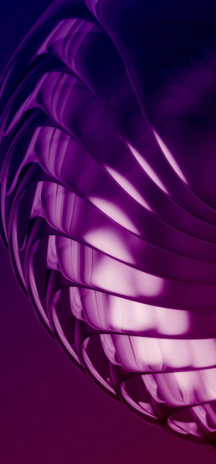 720x1544 Purple Layers 3D Abstract Wallpaper - [720x1544]