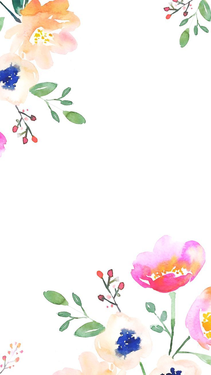 736x1308 50+ Watercolor Floral iPhone Wallpapers - Download at ...