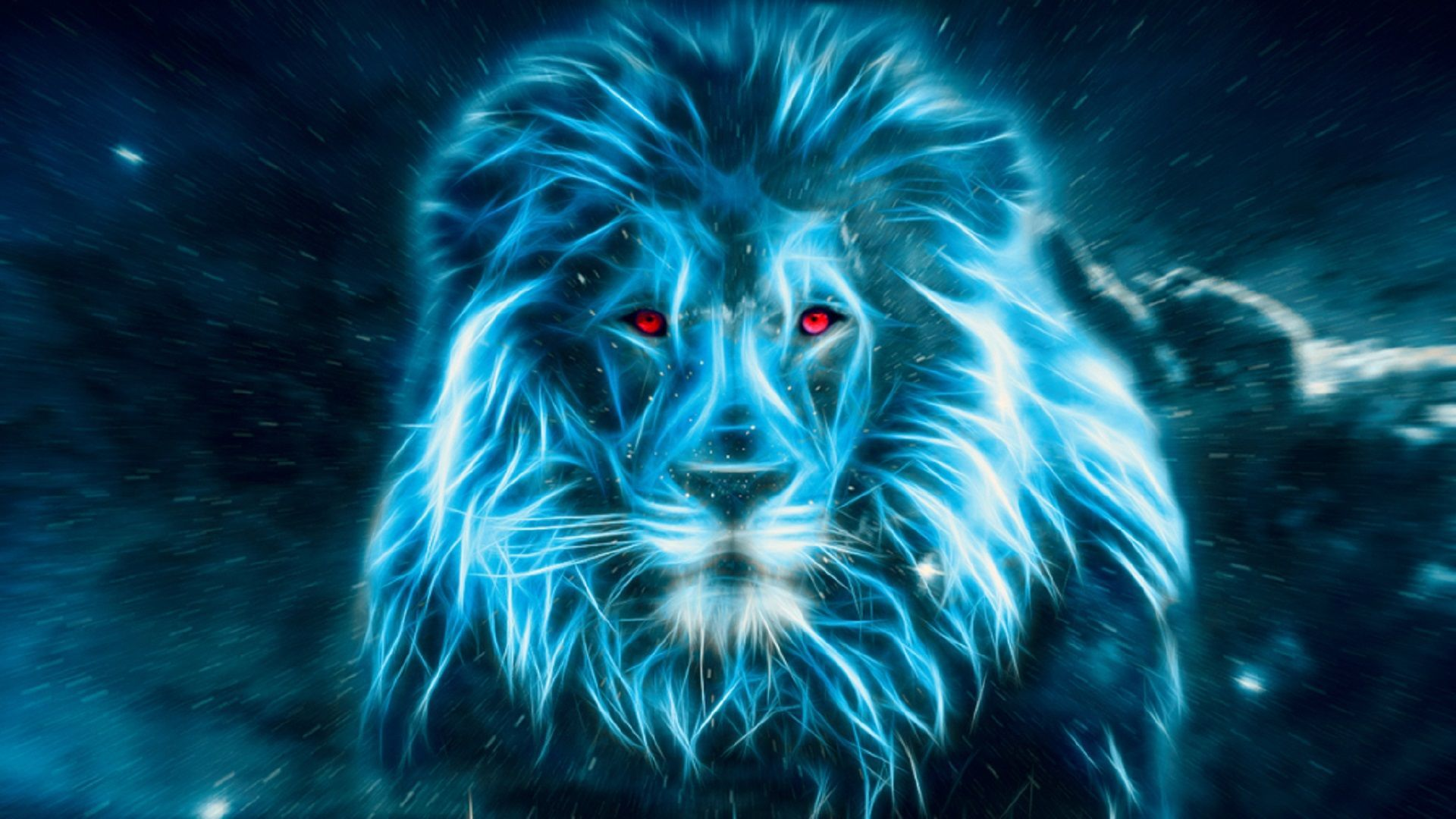1920x1080 Lion in blue Wallpapers[19201080] #Music #IndieArtist ...