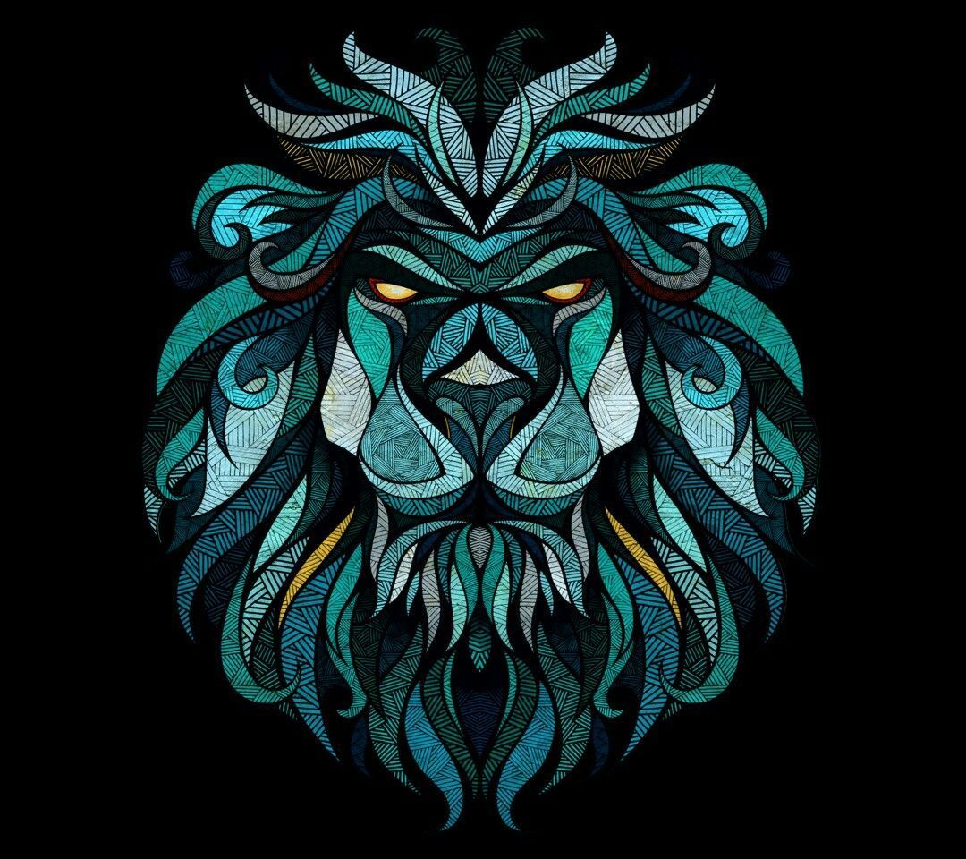 1080x960 60+ Geometric Lion Wallpapers - Download at WallpaperBro
