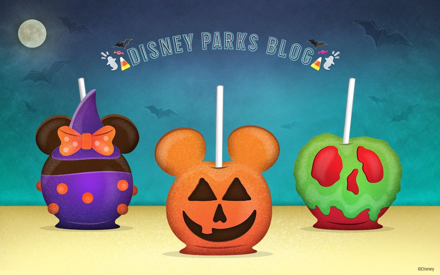 1440x900 Download Our Halloween Candy Apples Wallpaper Now | Disney ...