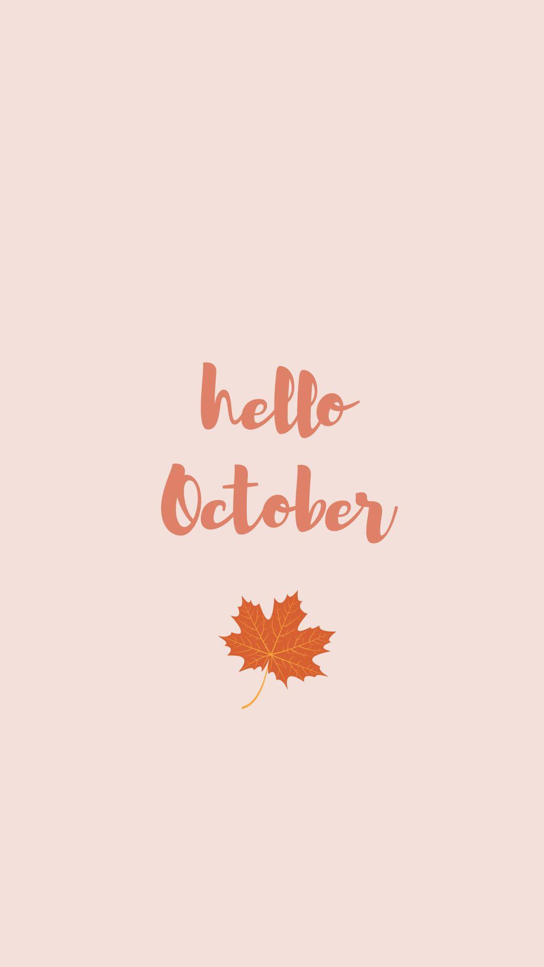 1080x1920 October 2018 calendar wallpapers for your iPhone and Android