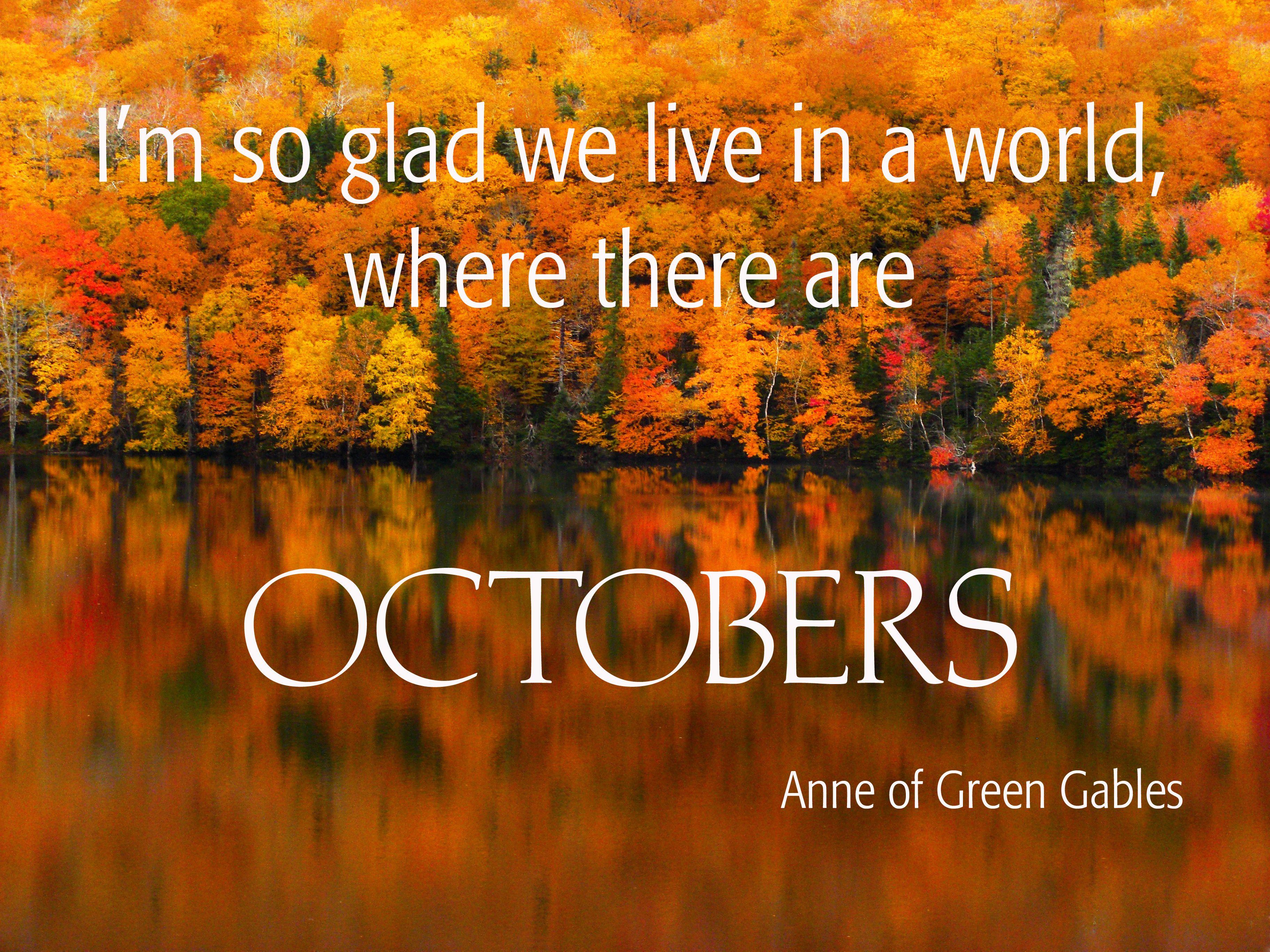 3648x2736 Hello October quote with wallpaper