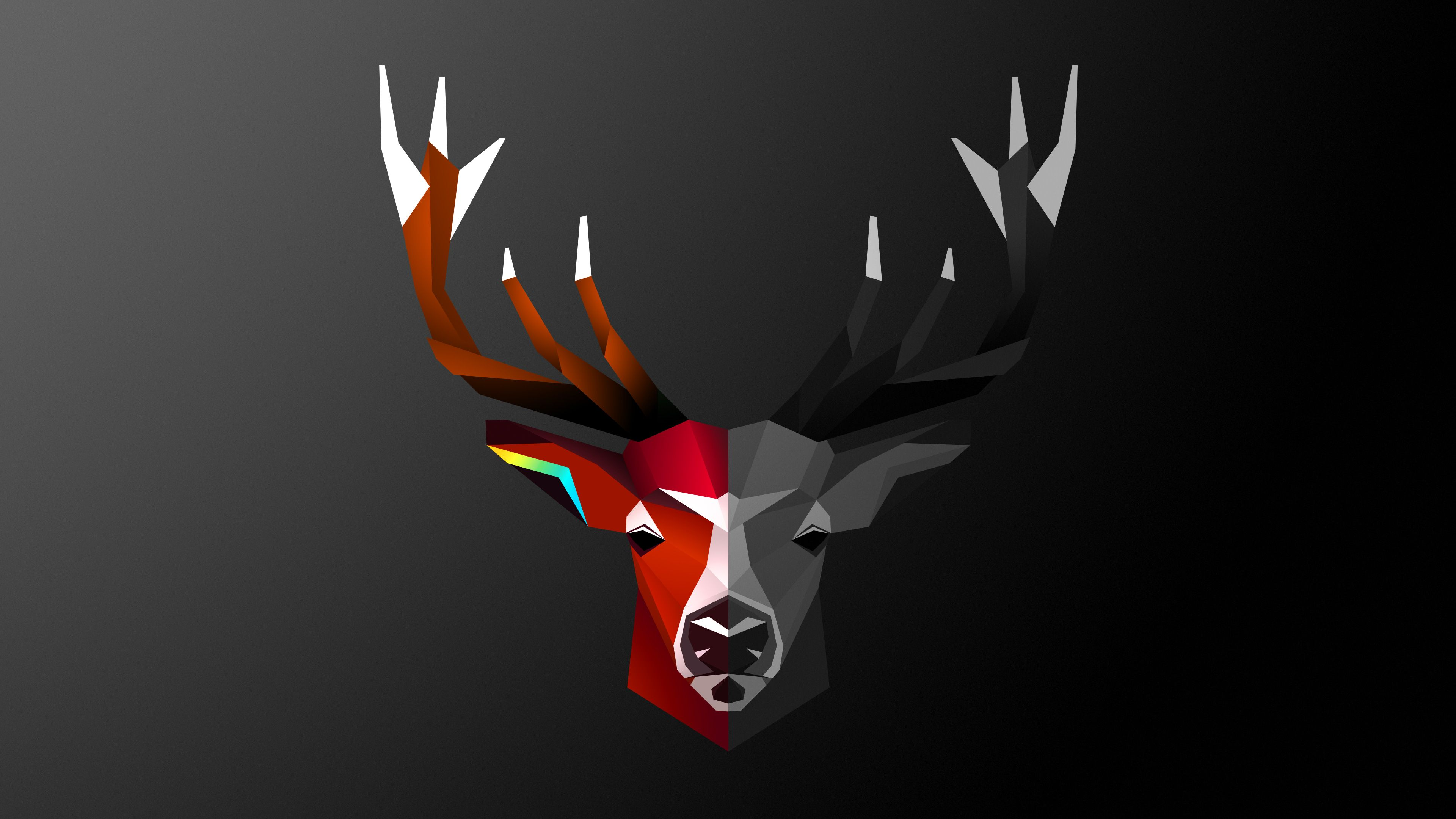 3840x2160 Abstract Deer 4k, HD Abstract, 4k Wallpapers, Images ...