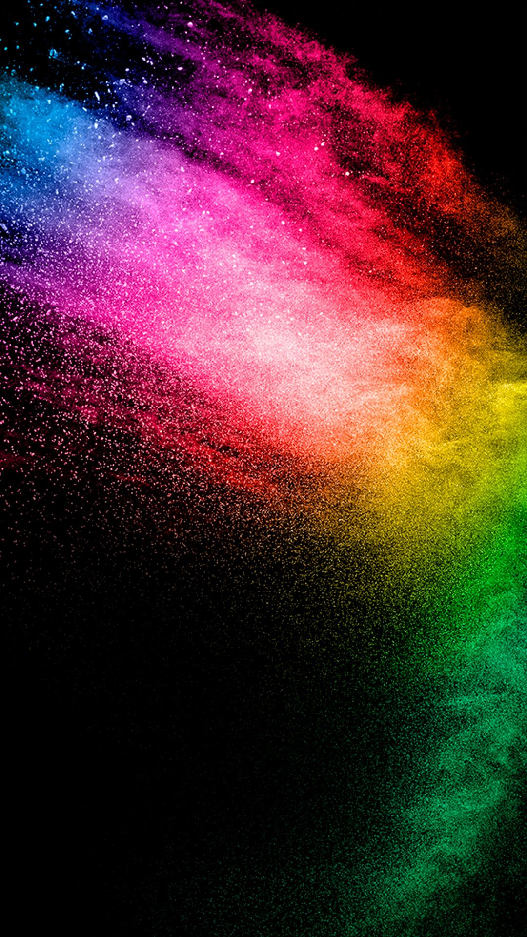 1080x1920 Rainbow-colored light particles | iPhone Wallpaper