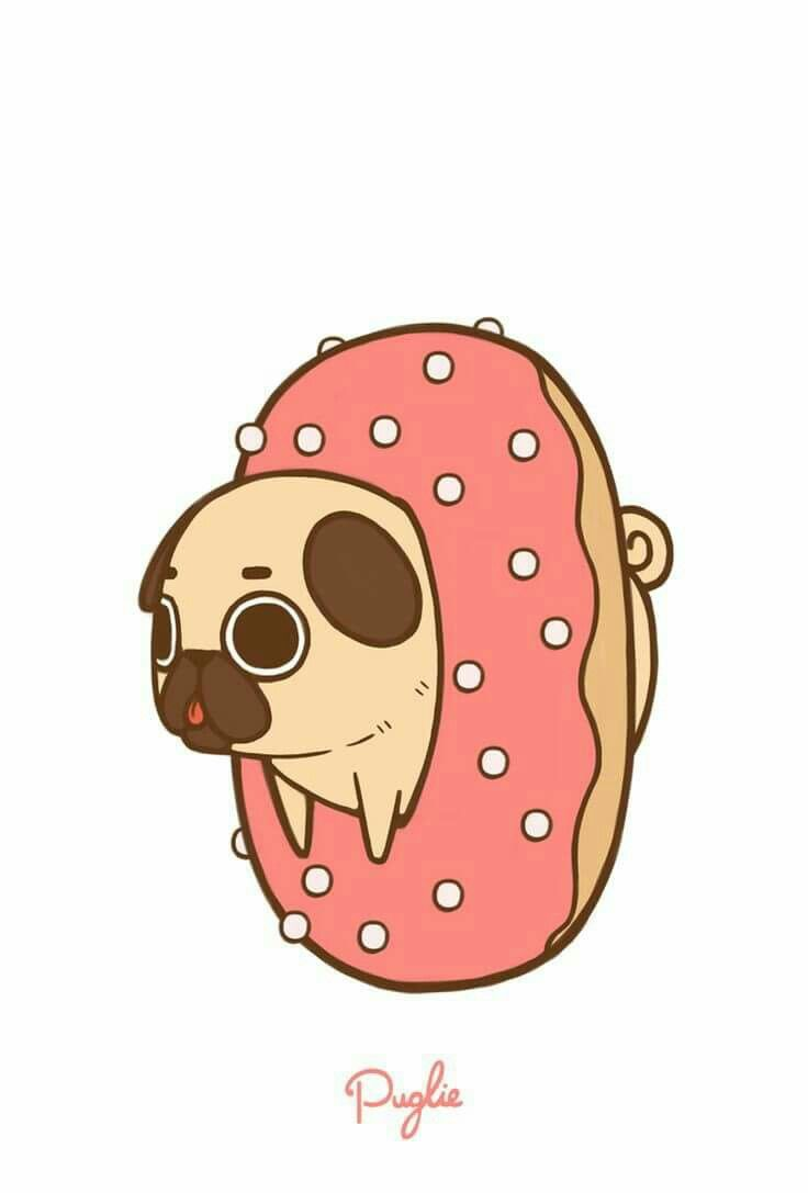 736x1087 Cartoon Pugs Wallpapers