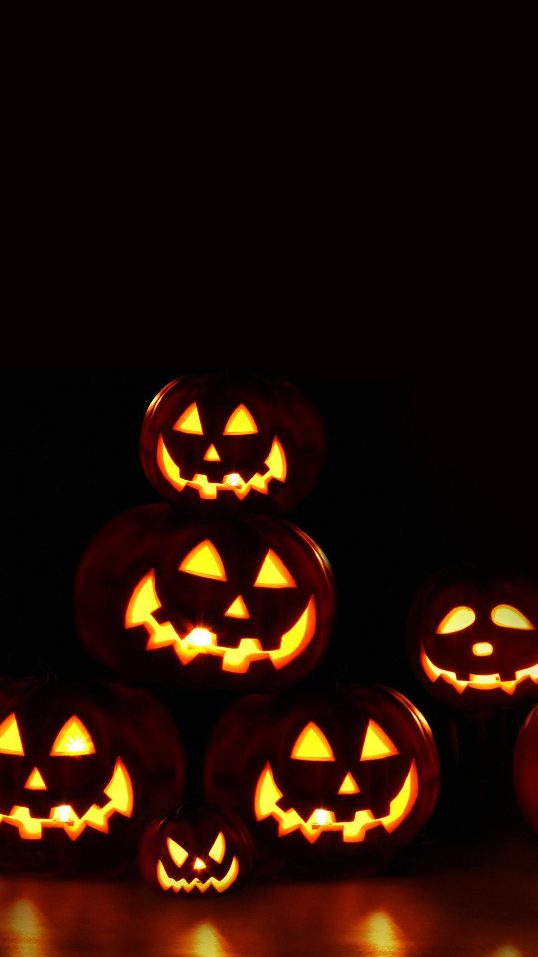 1080x1920 Scary Pumpkins Halloween Android Wallpaper free download