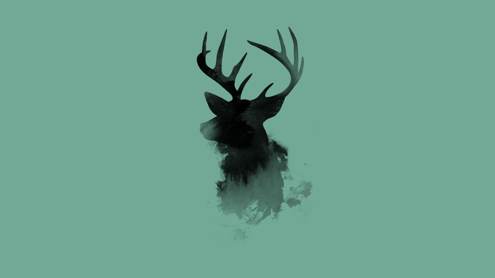 1920x1080 Deer Colorful Drawing Abstract HD wallpaper Gallery