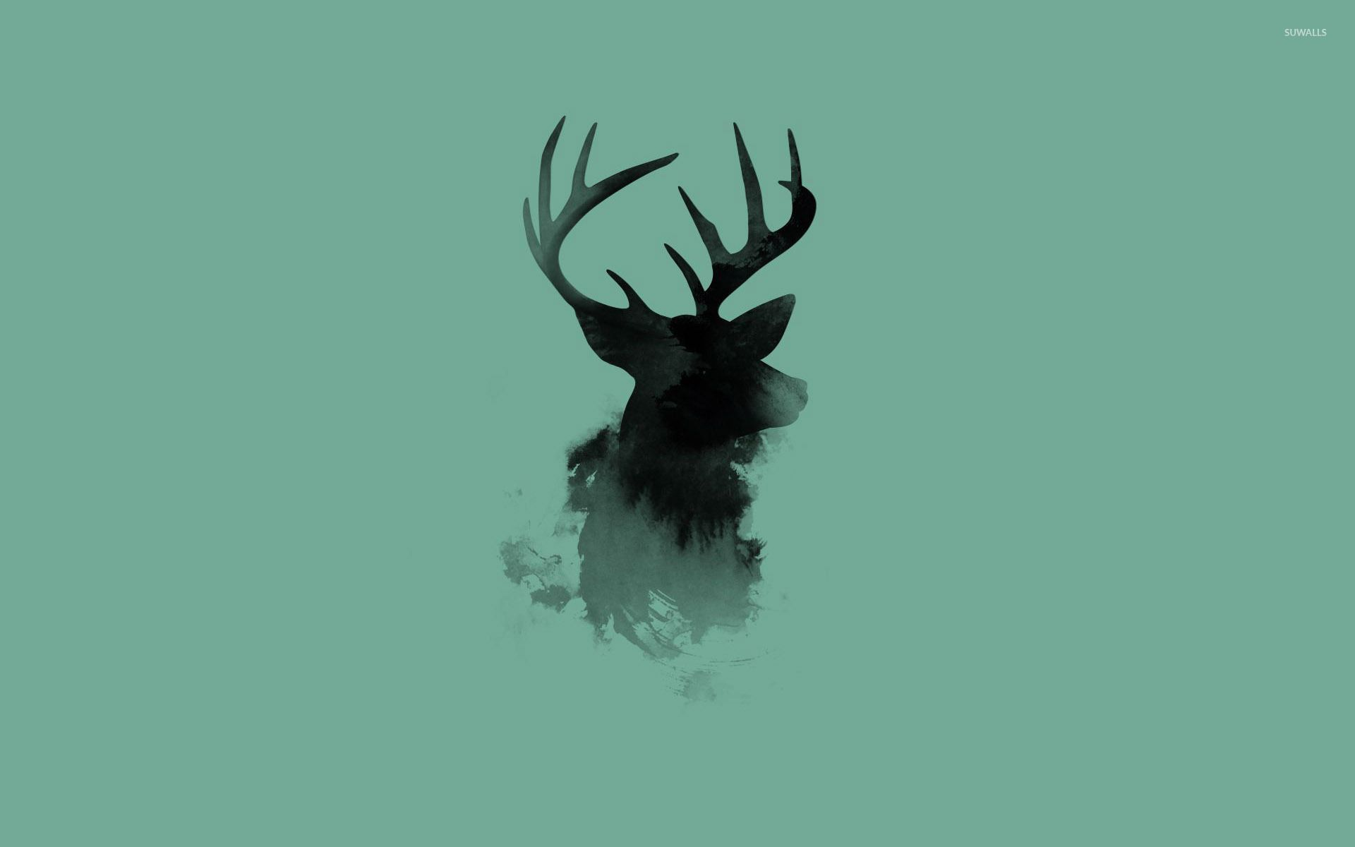1920x1200 Stag head silhouette wallpaper - Artistic wallpapers - #26505