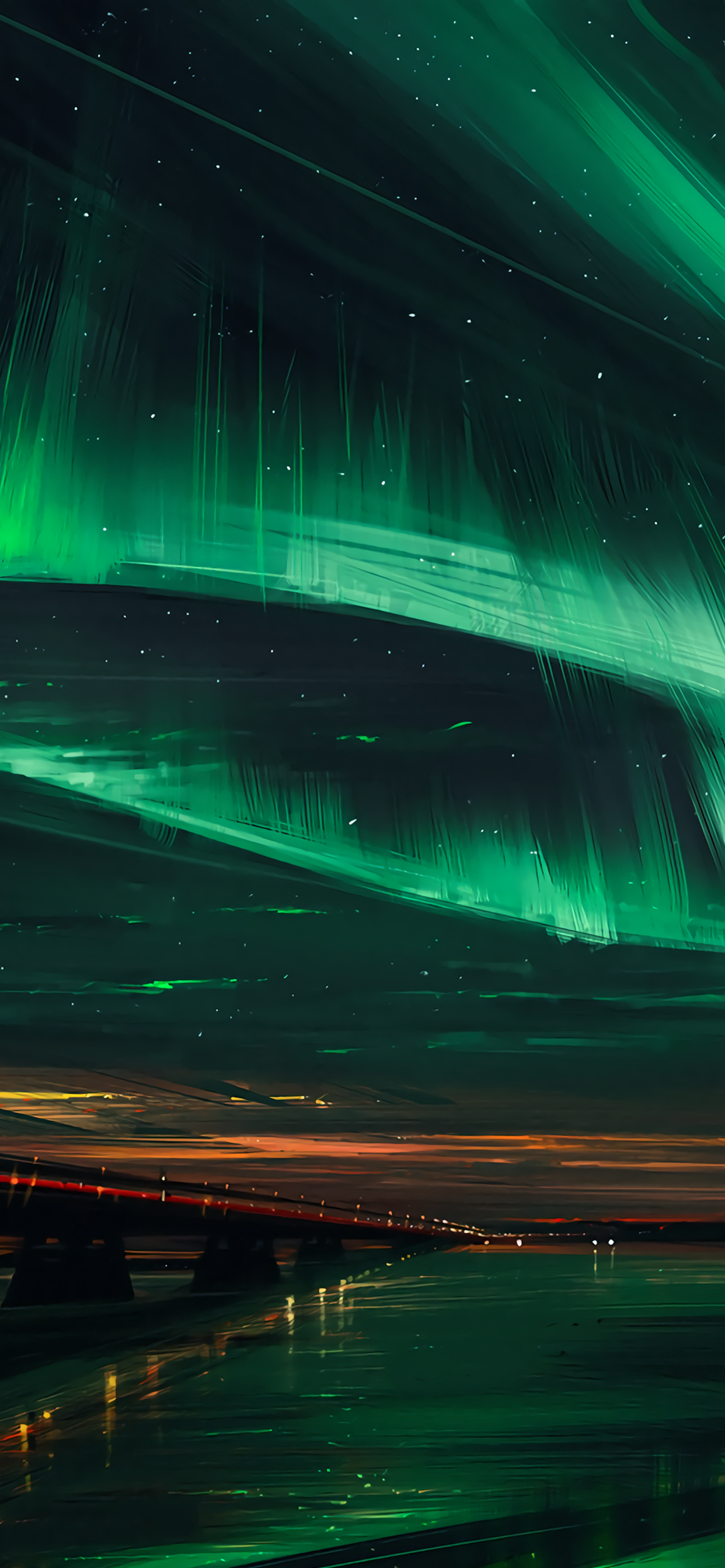 1242x2688 Aurora Borealis Digital Art [1242x2688] [optimized for ...