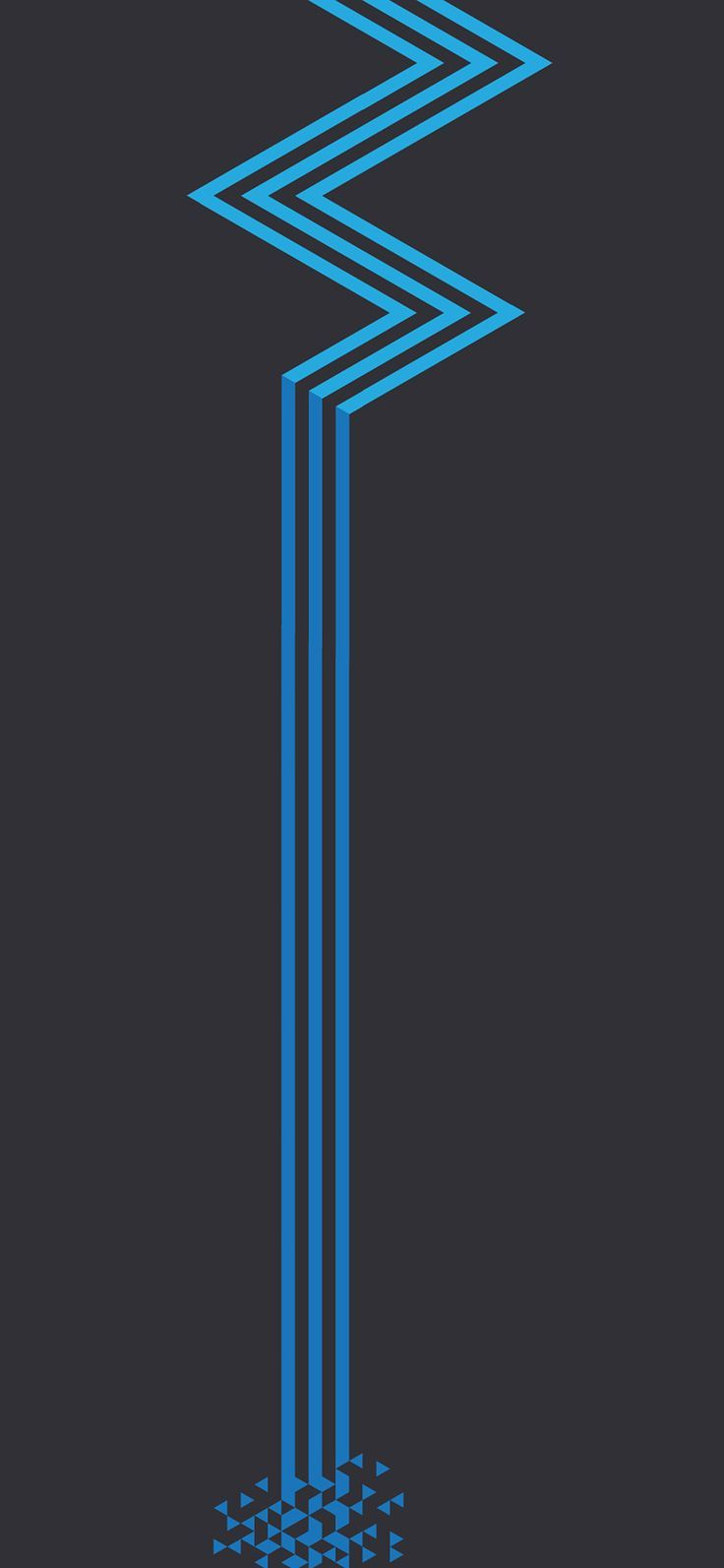 736x1593 iPhone X wallpapers : vz23-minimal-blue-dark-line-abstract ...