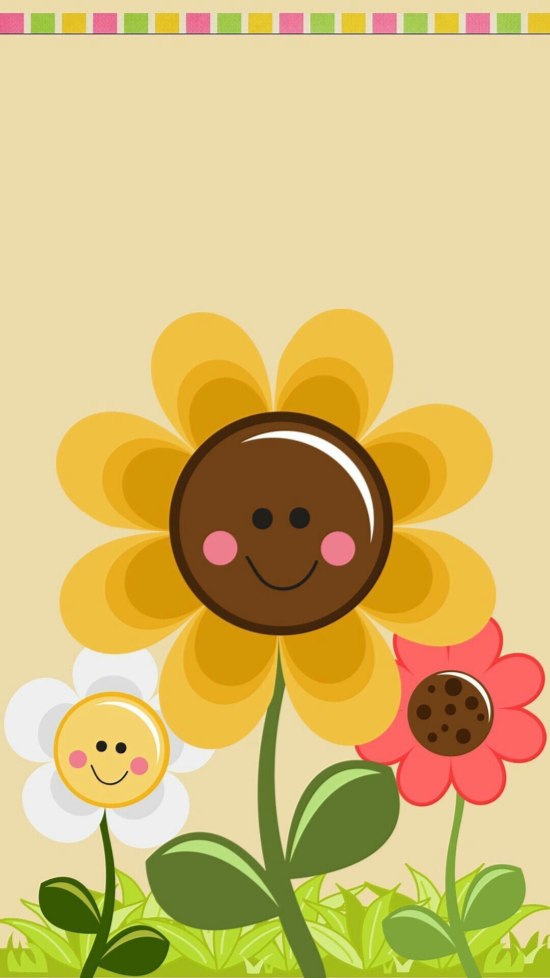 1080x1920 Smiley Sunflowers Wallpaper | *Cartoon, Animated and People ...