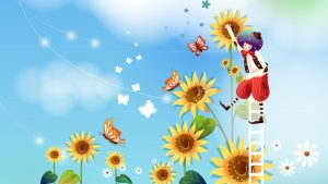 Cartoon Sunflower Wallpapers – Top Free Cartoon Sunflower Backgrounds