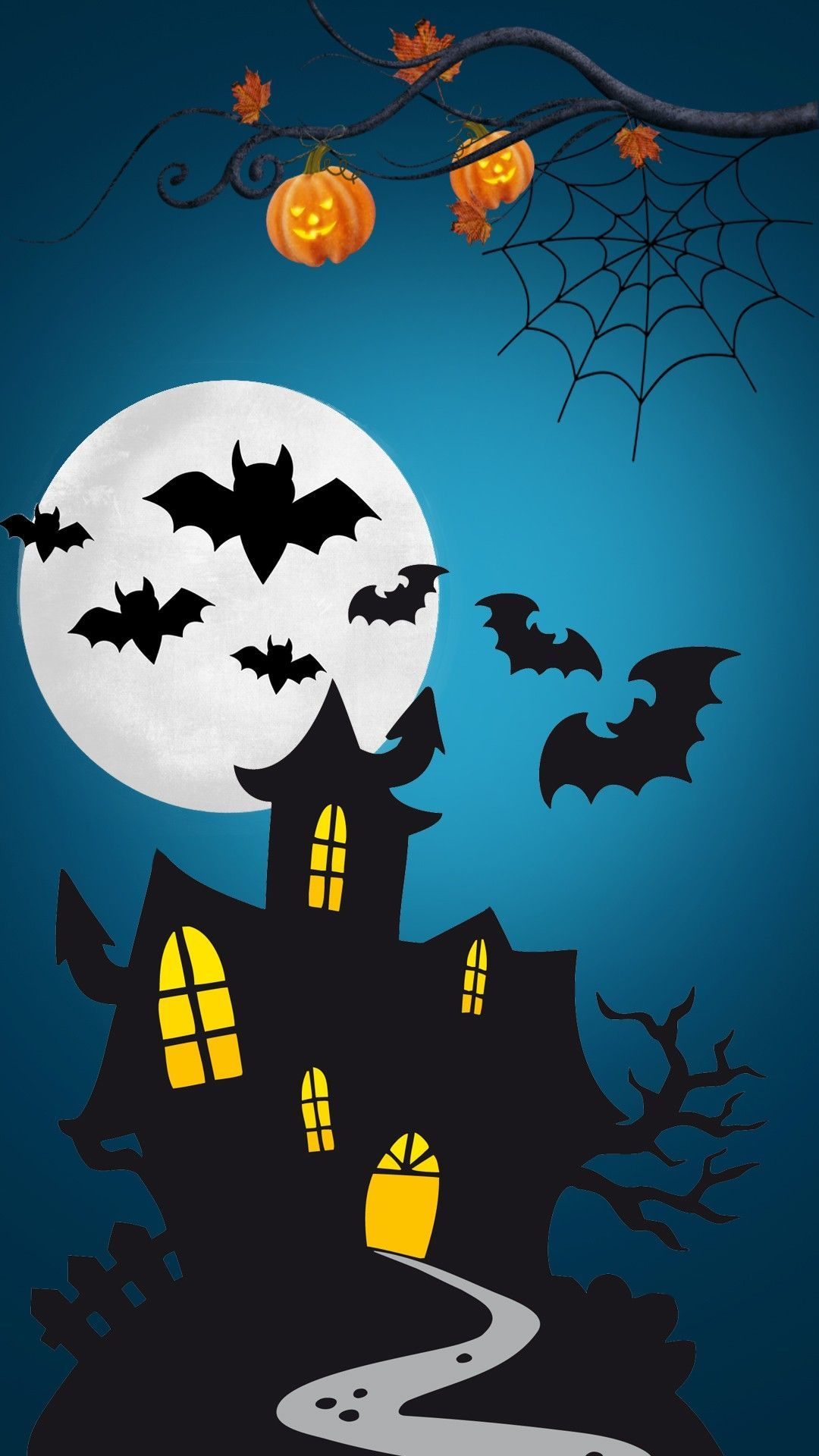 1080x1920 Spooky House Wallpaper | *Cartoon, Animated and People ...