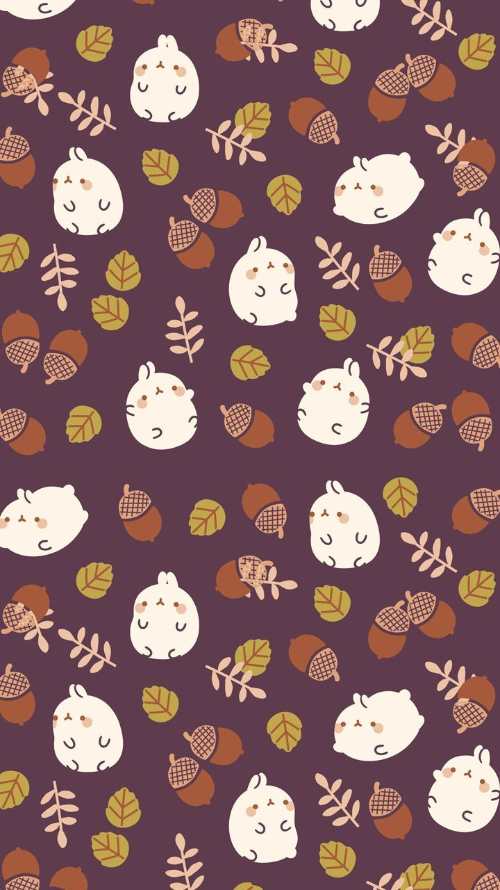 720x1280 Autumn molang background | Cute Wallpapers | Cute fall ...