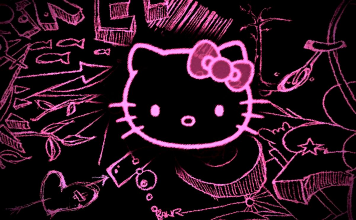 1203x744 Emo Hello Kitty Wallpaper | Wallpapers Style